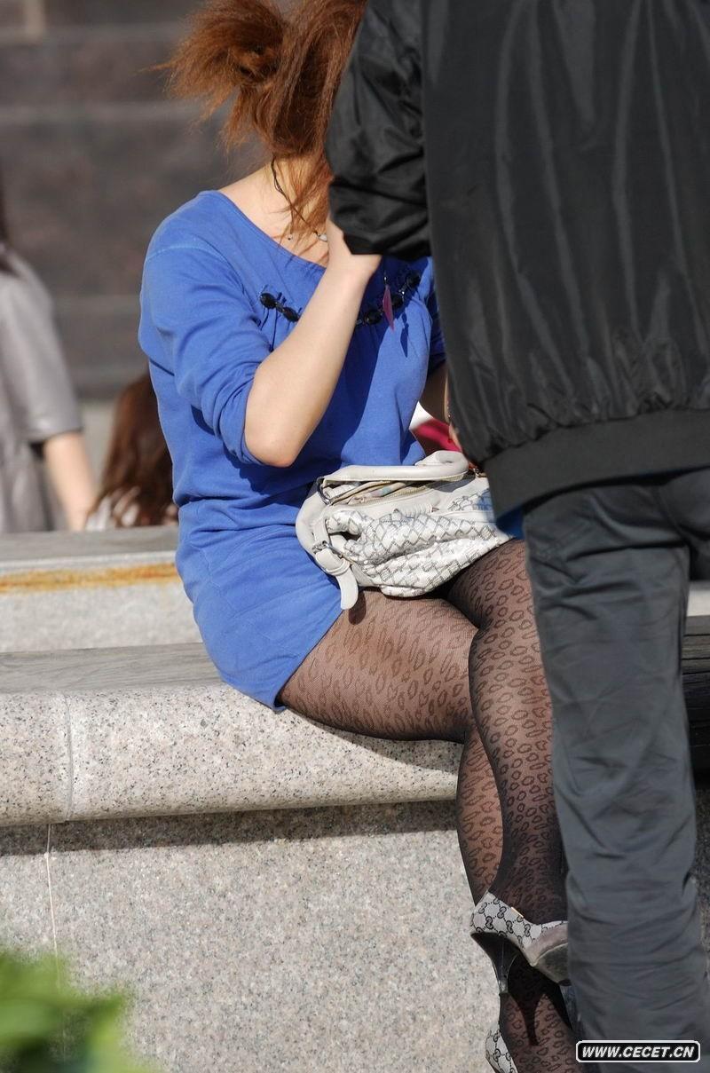 经典街拍第67集 抓拍路边的黑丝少妇 - 聚美楼 - 聚美楼