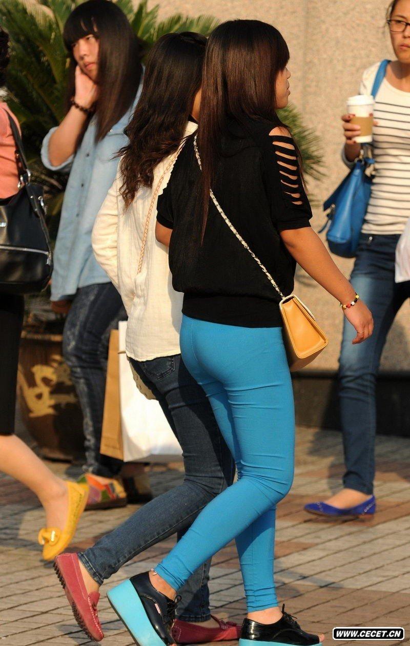 河北大学街拍的紧身裤女生 - 酷爱熟女 - 酷爱熟女
