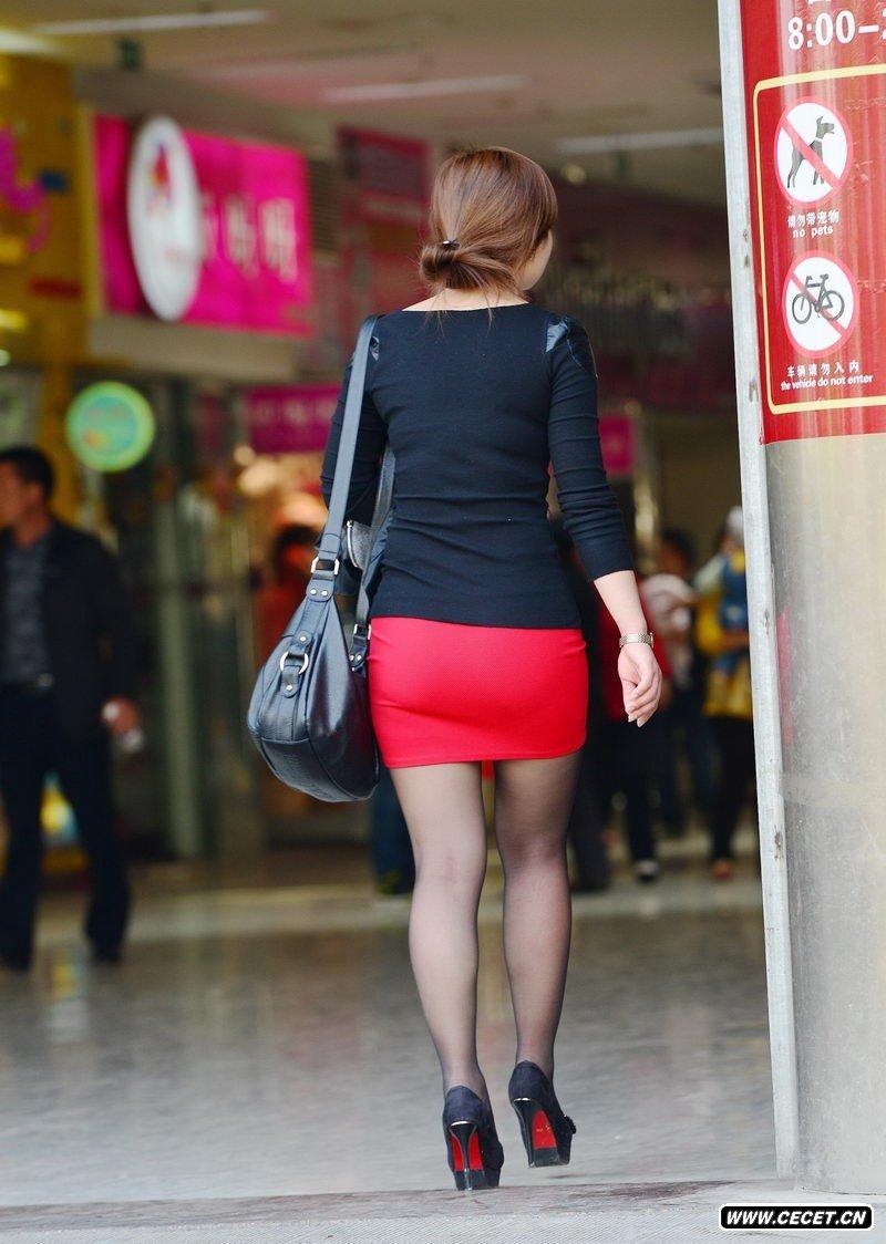 街拍包臂裙美女酷6网