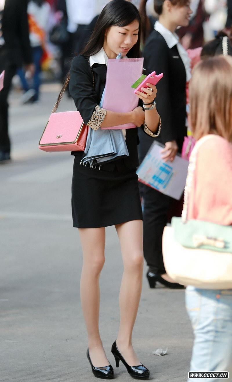 街拍ol职业装美女_街拍非常漂亮的职业装OL美女 - 中国娱乐资讯网CECET.CN