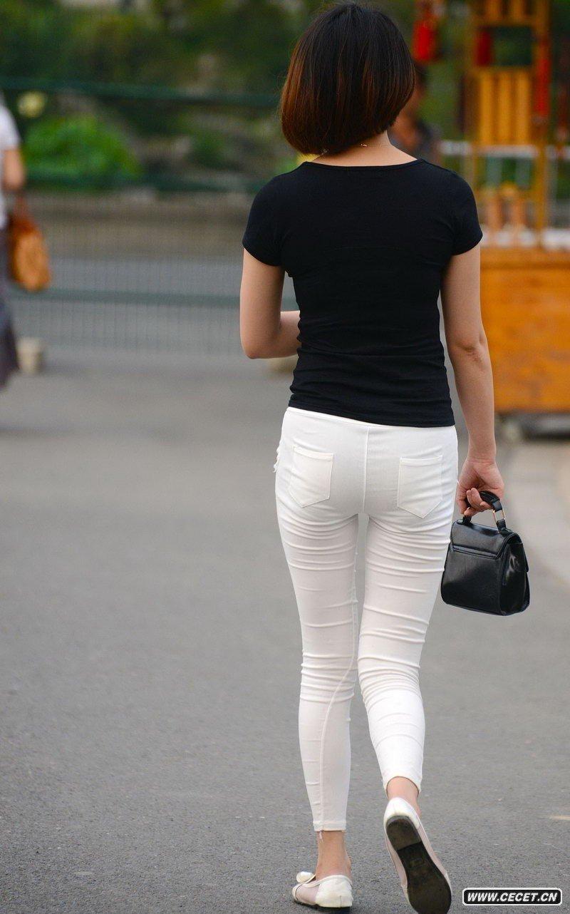 紧身白裤美女图_花溪公园抓拍的白色紧身裤美女 - 中国娱乐资讯网CECET.CN