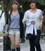 扬州街拍丝袜美女