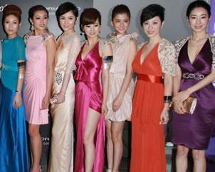 众女星香港出席时装展