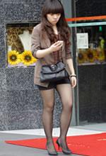 白河东巷街拍的短裤黑