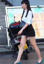 光华路街拍的黑色短裤