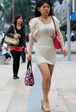 建业路街拍的连衣裙肉