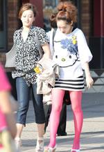 街拍的包臀裙粉红丝袜