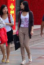 济南街拍的一组时尚美