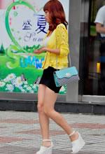 包臀短裙美人纤细的身