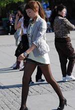 新华大街抓拍的短裤黑